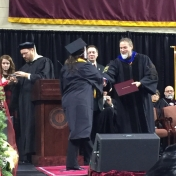 12Pikeville site graduate Dana Taylor accepts her diploma from Dr. Kraska, Chair