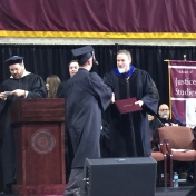 22Somerset site graduate Joseph Phillippi accepts his diploma from Dr. Kraska, C