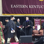 9Manchester campus graduate Nicholas Byrd accepts his diploma from Dr. Kraska, C