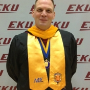 SJS Manchester campus instructor and APS/LAE Assistant Faculty Advisor David Lawson at graduation 12/2014.