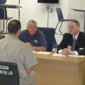 EKU Regional Campus Instructor David Lawson at Manchester Federal Corrections Institution Community Relations Board, Mock Interview Trial- Nov. 2014 (2)
