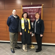 Fall 2018 Whitesburg Site graduate Destiny Hall with RC&S CJ Lecturers David and