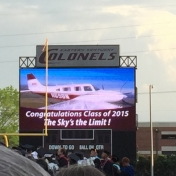 Message from EKU Aviation during the fly-over at Commencement 5-15-15