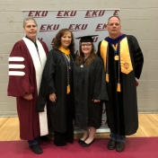 Spring 2019 EKU Manchester Campus Graduate Bethany Metcalf with RC&S Coordinator