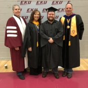 Spring 2019 EKU Manchester Campus Graduate Colby Hudson with RC&S Coordinator St