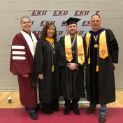 Spring 2019 EKU Manchester Campus Graduate Donald Ealy with RC&S Coordinator Ste