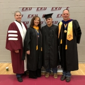 Spring 2019 EKU Manchester Campus Graduate Nick Alevras with RC&S Coordinator St